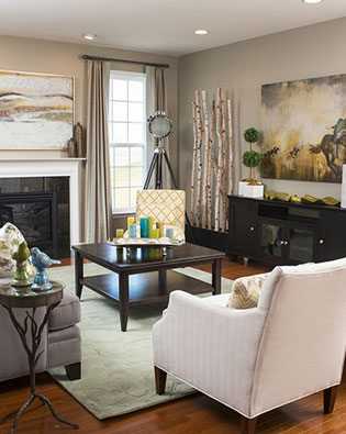 A Family Room for Entertaining